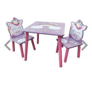Magical Unicorn Wooden Table and Chairs Set £20 @ The Works
