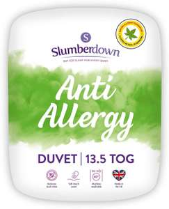 Slumberdown Made in the UK Anti Allergy Duvet, Double, 13.5 Tog Winter Warm now £20.19 delivered at Amazon