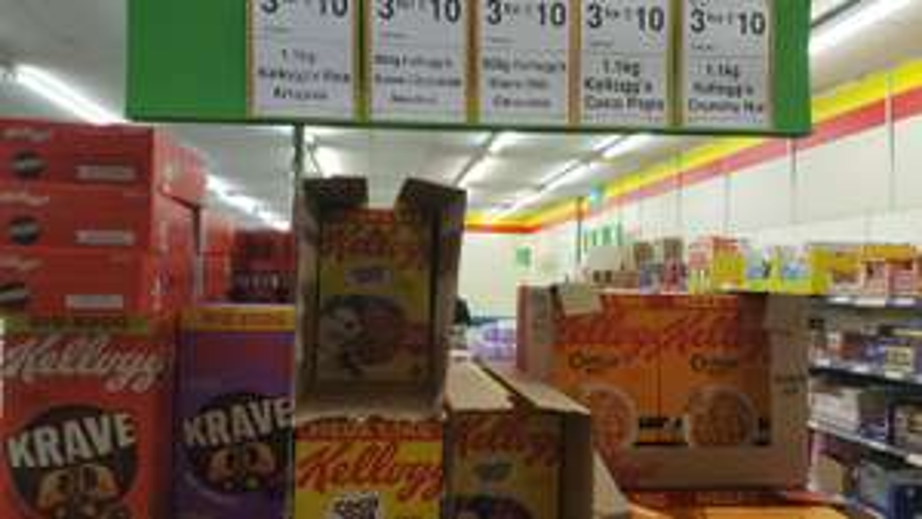1.1kg Crunchy Nut Cornflakes / Rice Krispies / Coco Pops & 850g Kelloggs Krave (Milk Chocolate & Chocolate Hazelnut) 3 for £10 at Farmfoods
