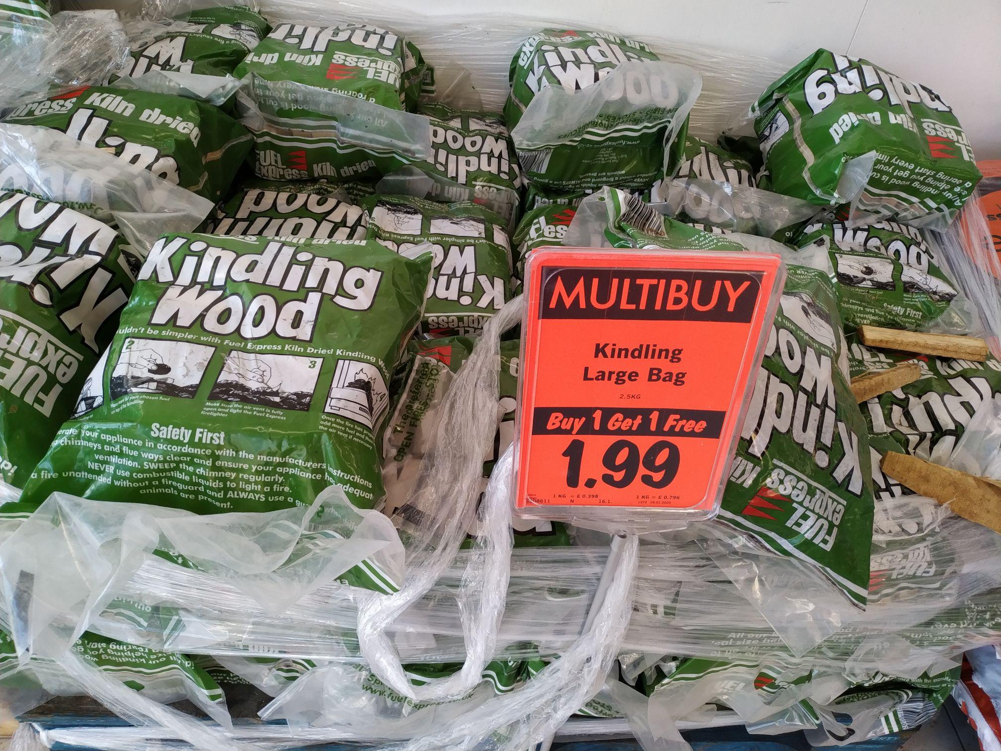 5kg of Kindling Wood - £1.99 @ Lidl