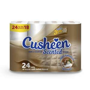 24 Quilted Shea Butter Toilet Rolls by Cusheen £4.99 @ The Range