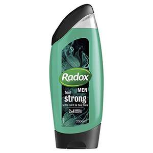 Radox Men Feel Strong Mint & Tea Tree 2in1 Shower Gel 250ml, Pack of 6 £5.88 + £4.49 NP (£4.41 S&S Amazon with 20% voucher)