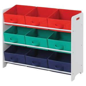 Kids Cube 3x3 Storage Toy Unit with 9 Inserts , Now £15 @ Homebase (Free Click & Collect)