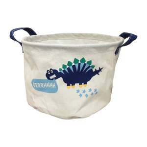 Fabric Toy Storage Basket - Dinosaurs / Unicorn, Now £2.40 @ Homebase (Free Click & Collect)