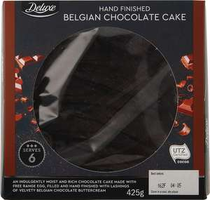 Lidl Deluxe Hand Finished Belgian Chocolate Cake/ Carrot Cake - £1.15 Enfield