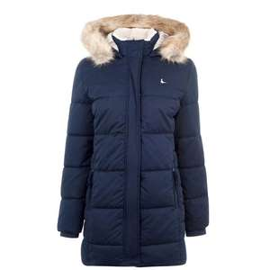 Womens Jack Wills Kentisbury Faux Fur Lined Jacket size 6 to 16 - £49.99 Plus £10 voucher with Click & Collect @ House of Fraser