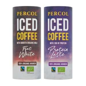Percol Iced Coffee Flat White & Protein Latte 225ml - 39p @ Bargain Buys (Cumbernauld)