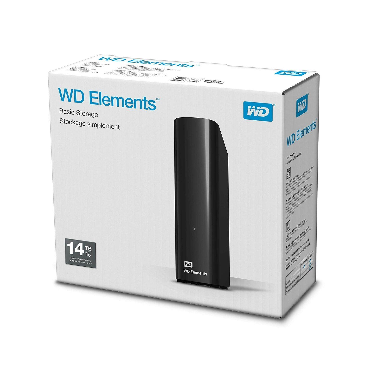 WD 14TB Elements Desktop External Hard Drive - USB 3.0 for £191.99 Delivered @ Amazon UK