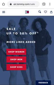 Tommy Hilfiger, up to 50% off on lots of items