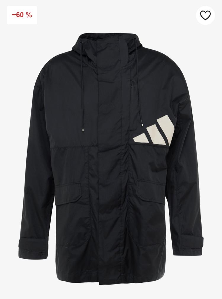 Adidas Athletics Pack Parka now £40 - sizes XS, S, M, L @ Zalando - Free Delivery