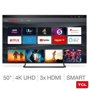 TCL 50EP668 50 Inch 4K Ultra HD HDR PRO with Freeview Play and Smart TV 3.0 £299.89 at Costco