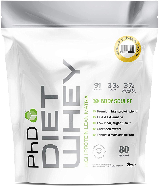PhD Nutrition Diet Whey Protein Powder - 2KG various flavours £14.84 Amazon Prime / £19.33 Non Prime