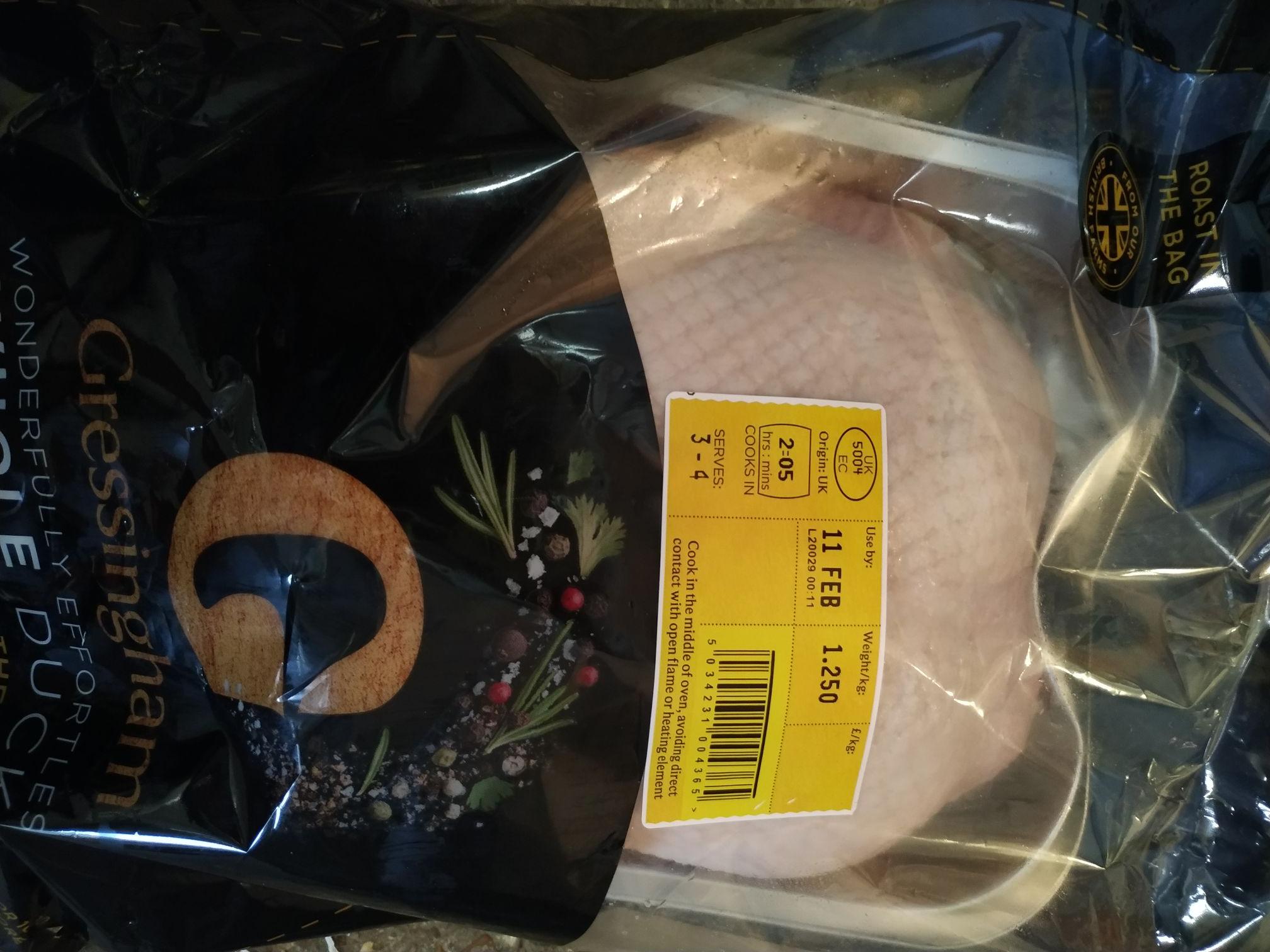 Gressingham Duck 1.25kg £5.95 instore @ Waitrose & Partners