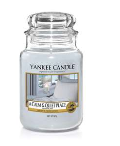 Yankee Candle - A Calm and Quiet Place - Large size with up to 150 hours burn time - now £12.99 (+£4.49 Non Prime) from Amazon