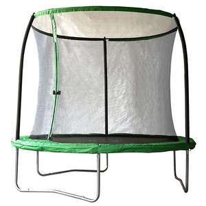 Black & green 8ft trampoline with enclosure £50 instore @ B&Q Reading