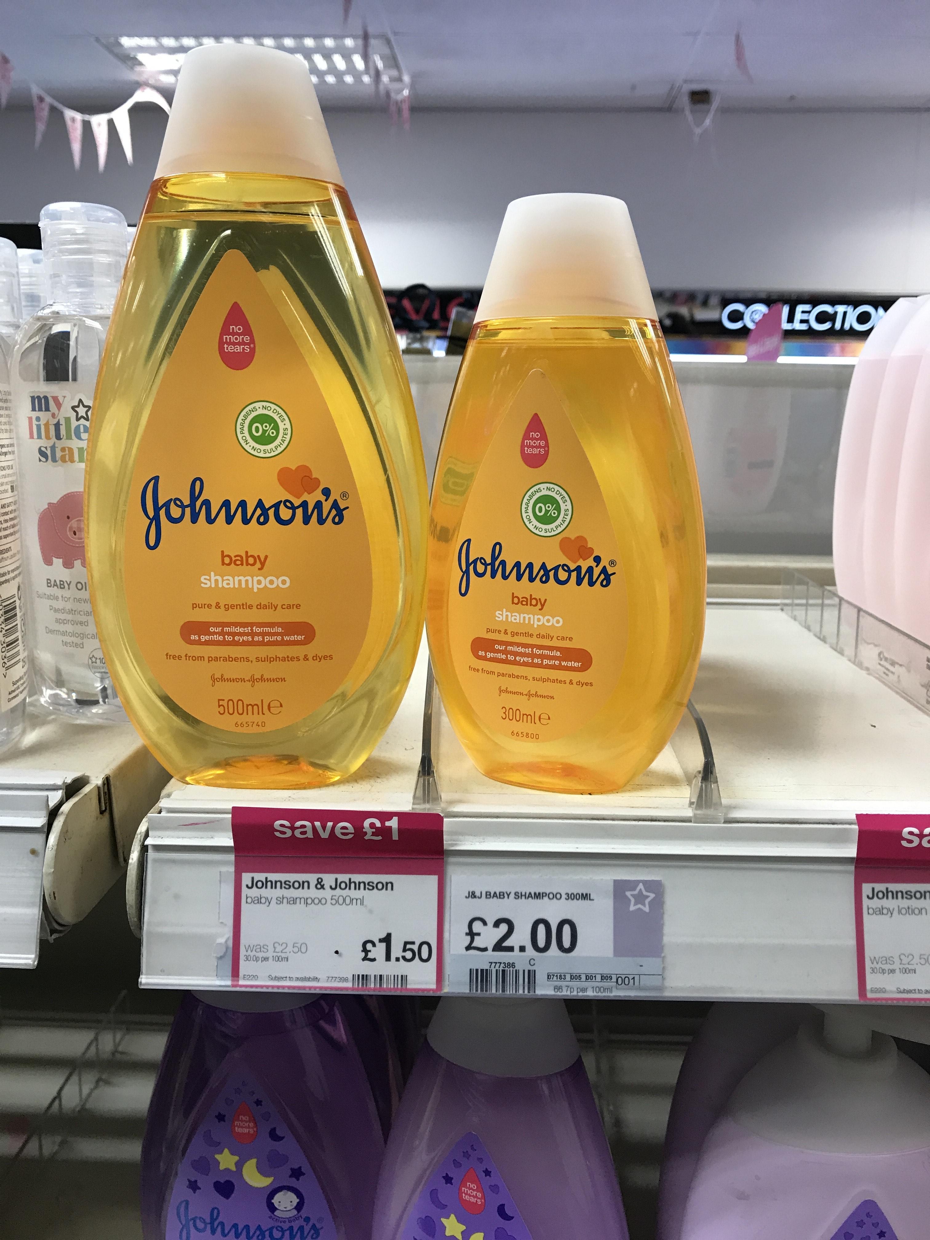 Johnson &Johnson Baby Shampoo £1.50 at Superdrug Eastham - London