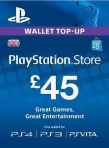 PSN Top-Up Cards £45 = £37.88 / £35 = £28.75 / £25 = £21.04 @ ElectronicFirst (extra 3% off with FB code)
