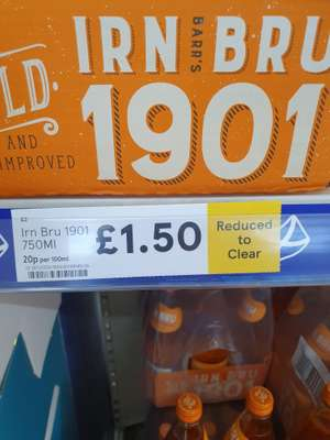 Irn Bru 1901 reduced to clear £1.50 @ Tesco Shettleston, Glasgow
