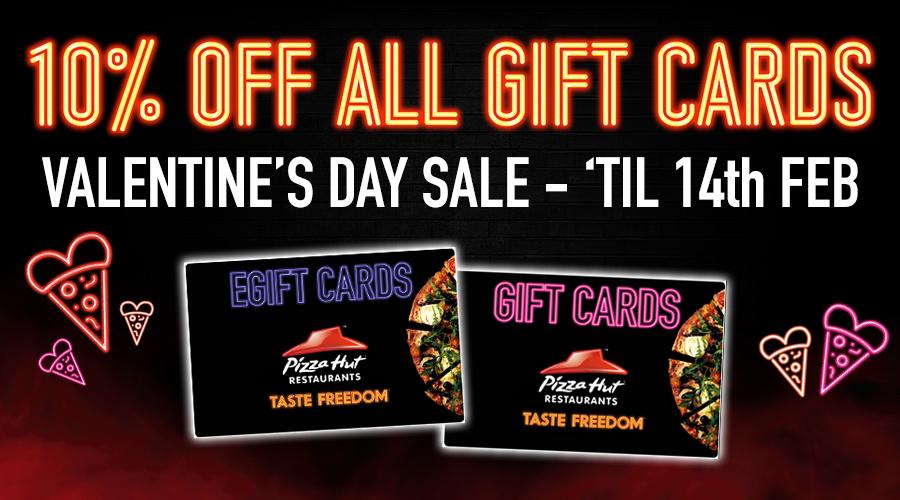 10% Off Pizza Hut Restaurants Gift Cards