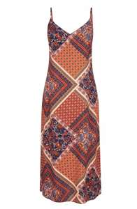 Multi Coloured Scarf Print Slip Dress £5 @ Dorothy perkins Free click and collect