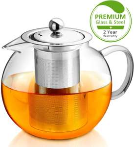AckMond 900 ml Clear Glass Teapot with Heat Resistant Stainless Steel Infuser £8.99 prime / £13.48 Sold by TEASHOME and Fulfilled by Amazon