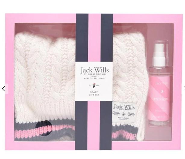Jack wills ladies scarf gift set £12.99 delivered @ Jack wills