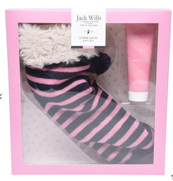Jack wills slipper socks gift set £10.99 delivered @ Jack wills