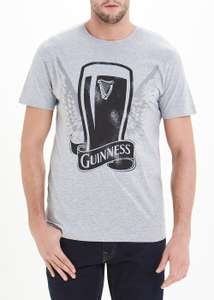 Guinness Print 100% Cotton T-Shirt - Small, Now £5 @ Matalan ( Free C&C )