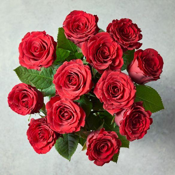 12 Red Rose £25.00 + £4.95 delivery at Waitrose Florist