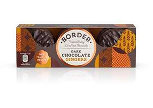 Border Biscuits Dark Chocolate Ginger 150g x 14 £2.59 (Prime) / £7.08 (non Prime) at Amazon