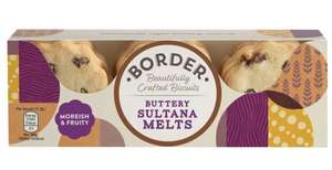 Border Biscuits Buttery Sultana Melt 135g x 12 - £5.74 (Prime) / £10.23 (non Prime) Sold by PVL Trade and Fulfilled by Amazon.