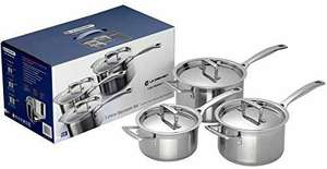 Set of 3 Le Creuset 3-Ply Stainless Steel Saucepans £219.99 Amazon