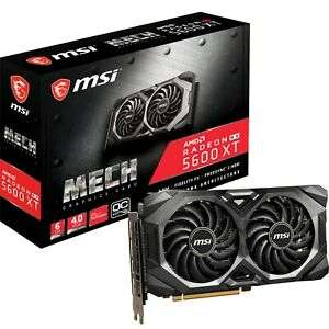 MSI Radeon RX 5600 XT 6GB MECH Graphics Card £246.29 from CCL/Ebay
