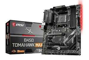 MSI B450 TOMAHAWK MAX Socket AM4 ATX Motherboard for AMD Ryzen Processors £91.01 at CCL/ebay with code