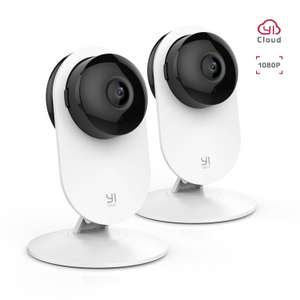 2 pack of YI 1080P Home Camera Wireless Indoor Security IP Cameras - £38.99 delivered @ Sold by Seeverything UK and Fulfilled by Amazon.