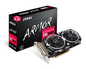 MSI RADEON RX 570 ARMOR 8G OC Graphics Card And 3 months games pass £119.24 @ CCL eBay