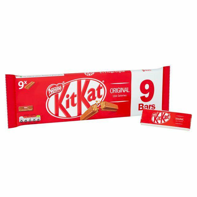 9 x Kit Kat 2 Finger Milk Chocolate Biscuit Bar Multipack 20.7g - £1 @ Sainsbury's instore