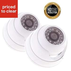 Yale HD Wired Indoor dome camera twin pack HDC-402W-2 - £99 B&Q