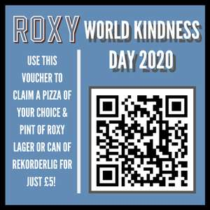 Any pizza and pint of Roxy Lager or can of Rekorderlig cider £5 at Roxy Manchester