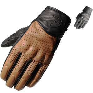 Black Freedom Motorcycle Short Leather Gloves with moulded knuckles £18.61 delivered using code @ Ghost Bikes