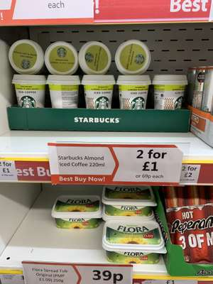 Starbucks almond iced coffee 220ml 2 for £1 at Heron Foods Sunderland