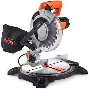 VonHaus 1400W Mitre Saw 210mm Blade With 15°, 22.5°, 30° and 45° Key Bevel Angle £54.99 @ Domu-UK / Ebay