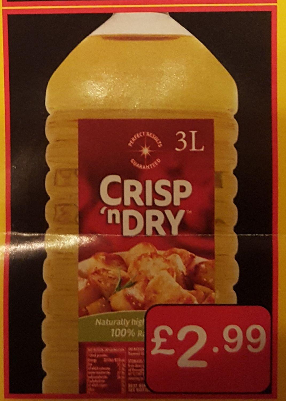 3l Crisp n Dry Oil £2.99 at Farmfoods