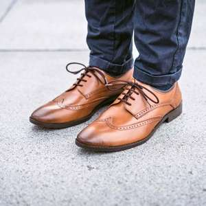 Men's Derby Brogue Shoe- AUBYN TAN £27 @ Goodwin Smith