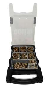 Forgefix Single Thread Countersunk Pozi Screw Organiser Pro Pack Assorted 1100 piece £12.49 delivered @ Toolstation