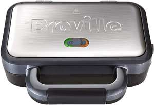Breville Deep Fill Sandwich Toaster and Toastie Maker with Removable Plates, Non-Stick, Stainless Steel £24.99 at Amazon