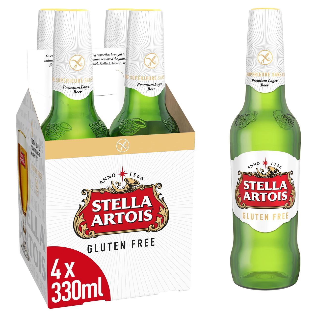 Stella Artois Gluten Free 330ml x 4 pack £3.50 at Ocado