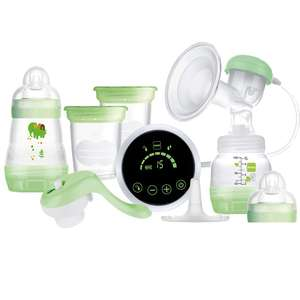 MAM 2-in-1 Single Breast Pump, Flexible Use Electric and Manual Breast Milk Pump, Comforting Silicone Breast Pump, Green £76.57 @ Amazon