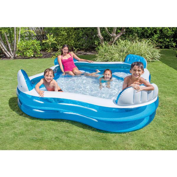 Intex Swim Centre Family Lounge Paddling Pool - 2.29 X 2.29 mtr £20.99 @ Euro Car Parts (Click & Collect)