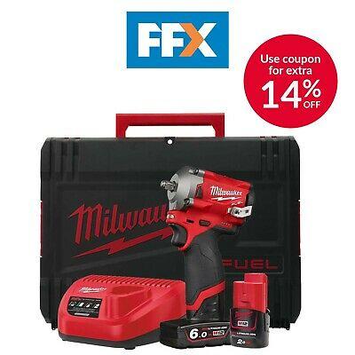 Milwaukee M12FIW38-622X 12v 1x6.0/2.0Ah Li-ion 3/8in Impact Wrench £176.30 with code @ FFX Ebay